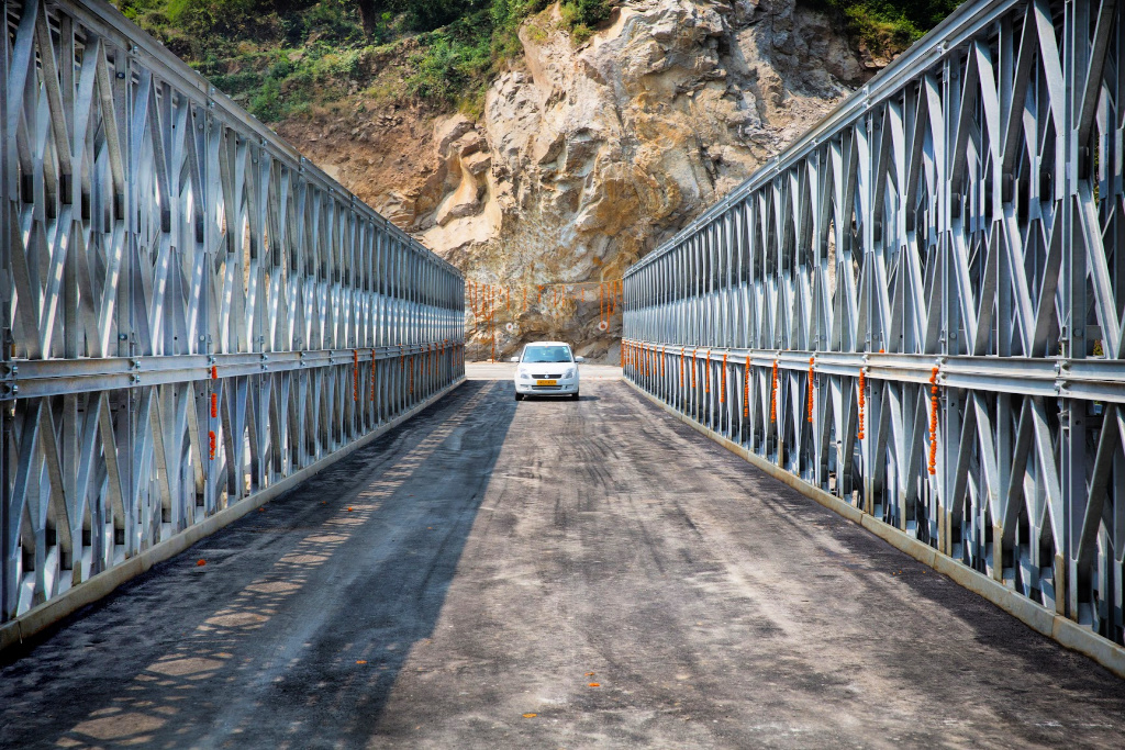Acrow Vehicular Bridge - India